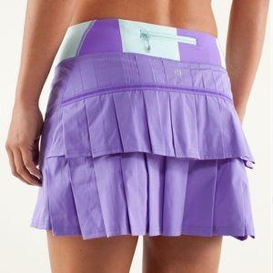 💜Lululemon Tall Pace Setter Skirt-Power Purple,10